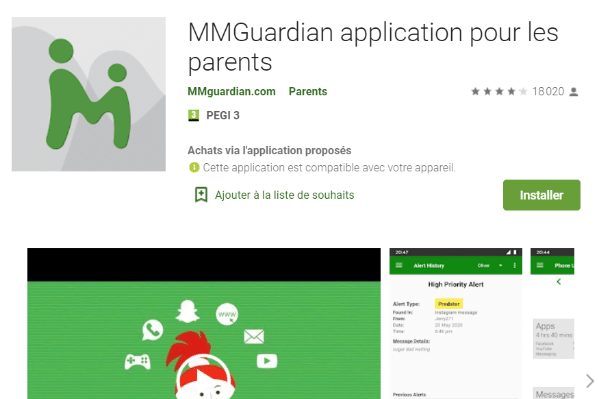 L'application MMGuardian, pour les parents inquiets